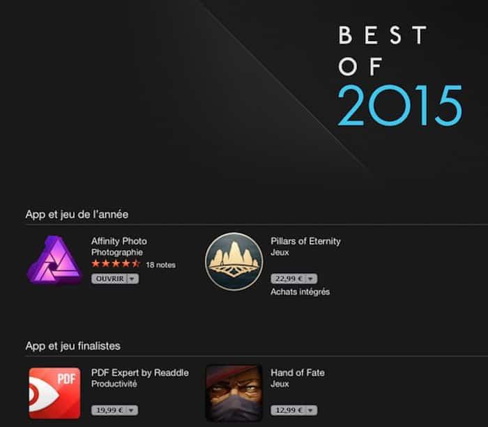 Affinity Photo élu App de l'année