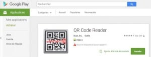QR Reader Playstore