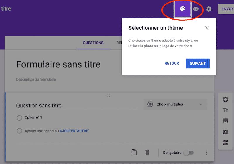 Google Form étape 3