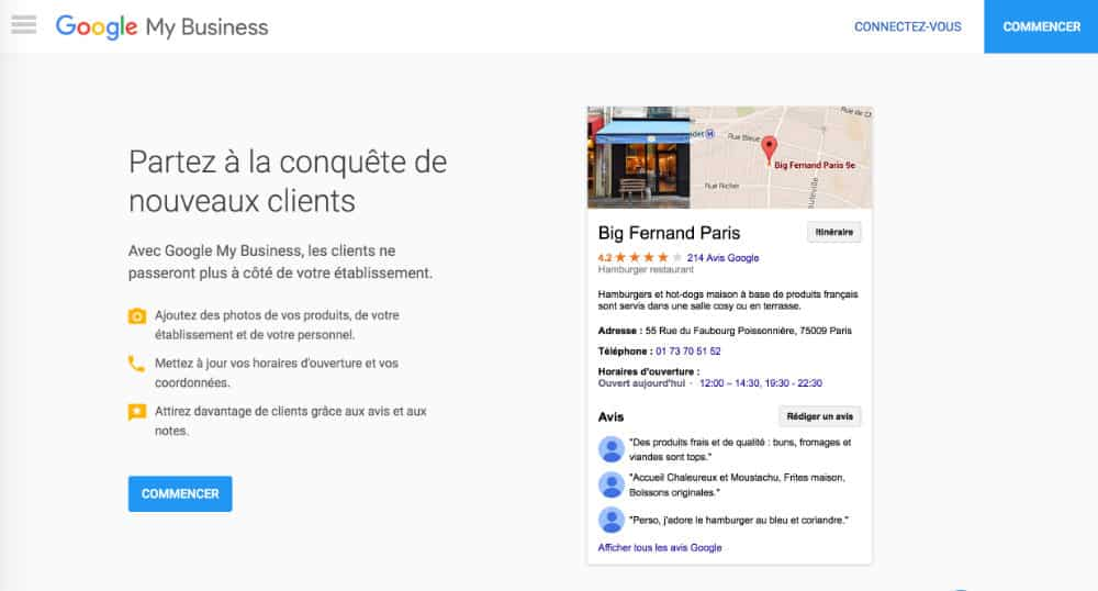 Se connecter à Google My Business