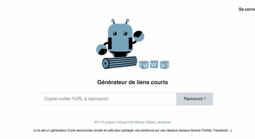 Raccourcisseurs URL - lccx