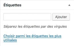les tags WordPress