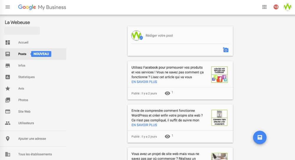 admin Google My Business