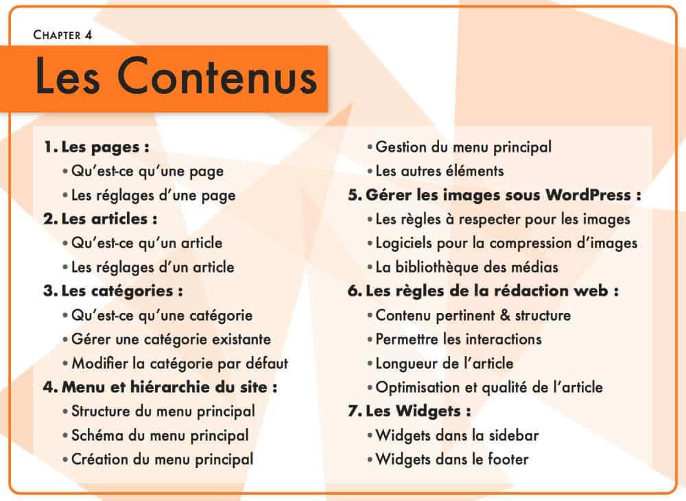 Chapitre 3 : les contenus