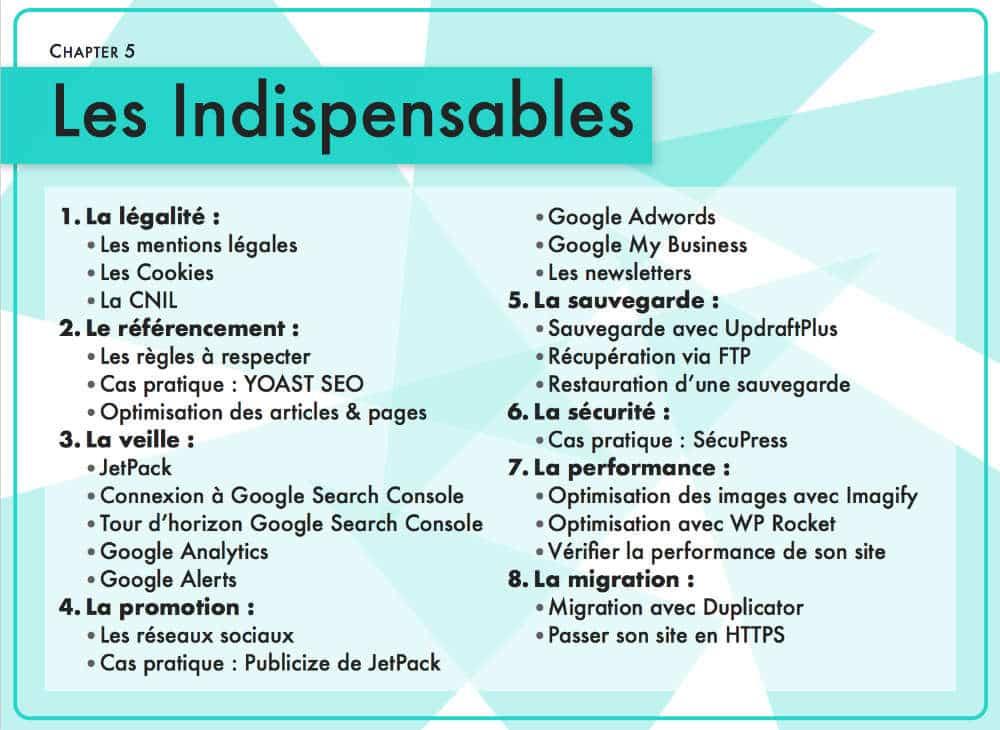 guide WordPress - Chapitre 4 : les indispensables