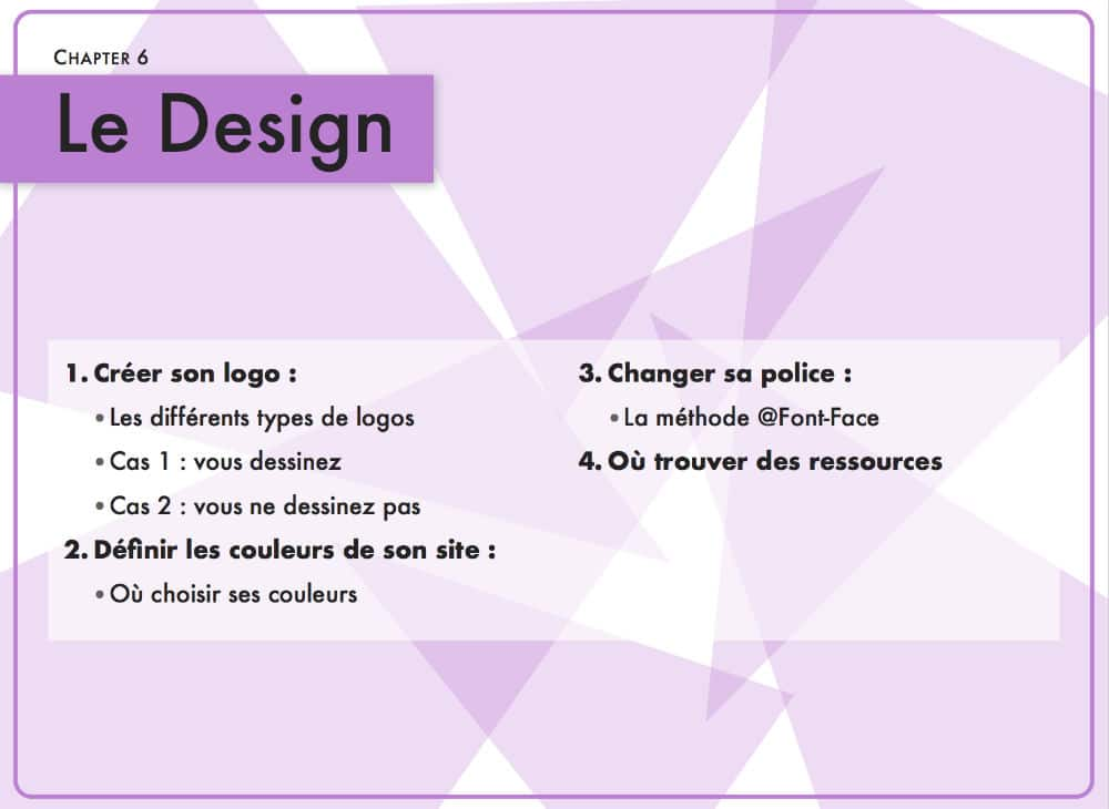 Chapitre 5 : le design