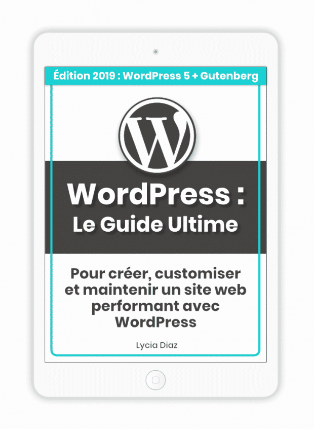 Ebook WordPress 2019 en PDF (manuel de 420 pages)