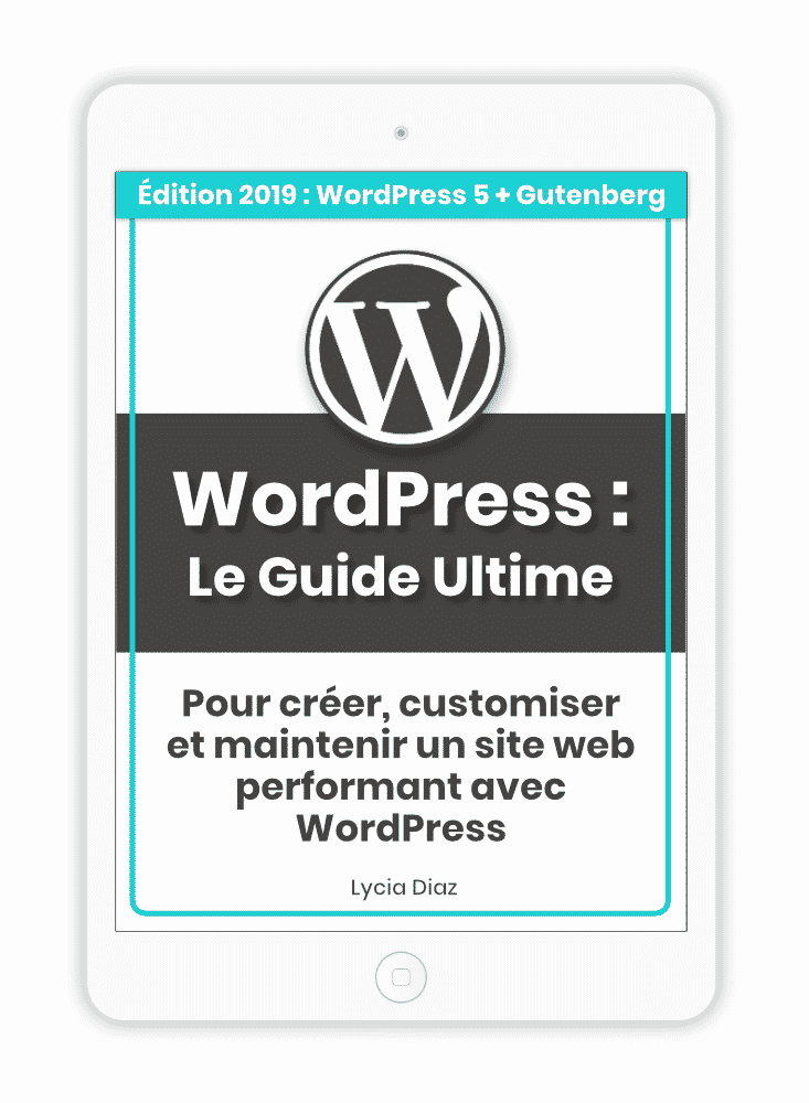 Ebook WordPress 2019 en PDF (manuel de 420 pages)