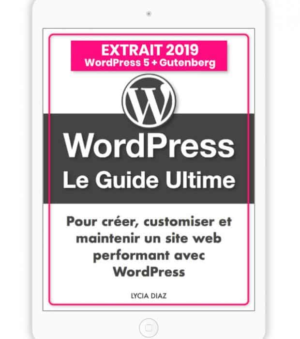 extrait ebook PDF WordPress