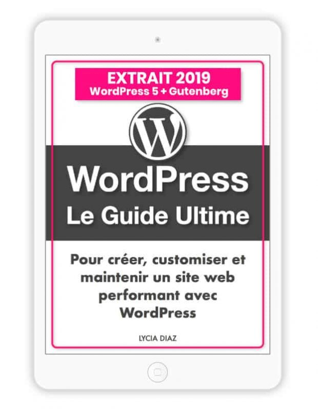 extrait ebook PDF WordPress