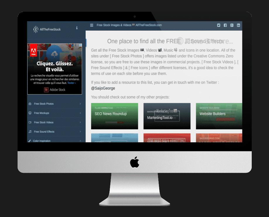 Allthefreestock - site de ressources web gratuites
