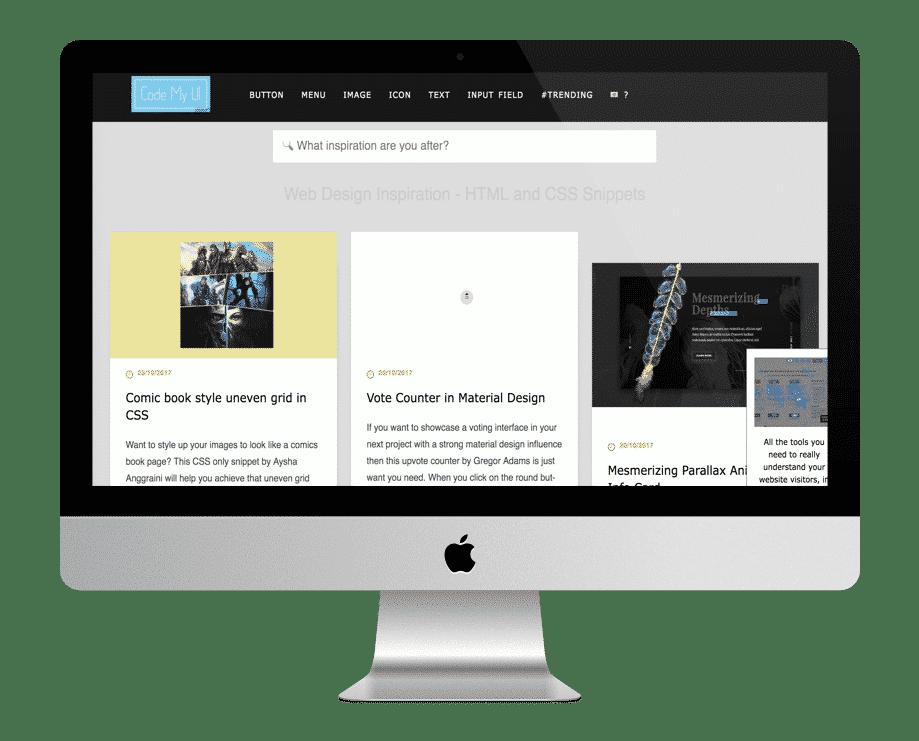 CodeMyUi - site de morceaux de codes gratuits