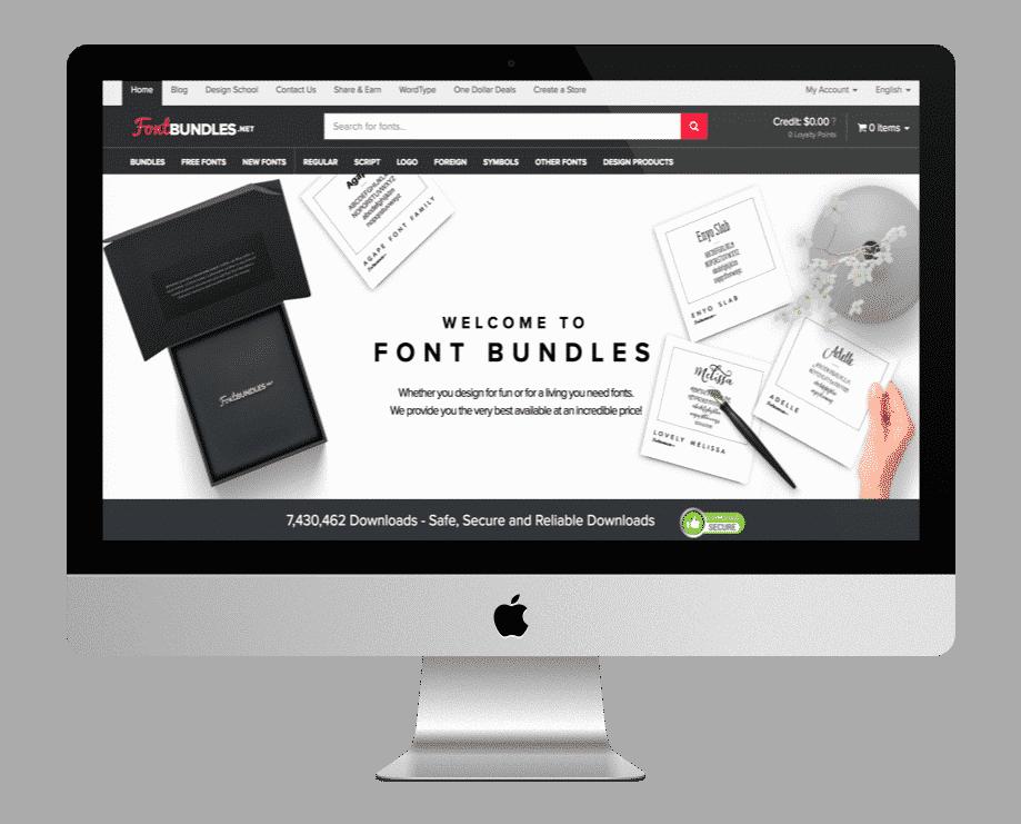 FontBundles - fonts premiums et gratuites