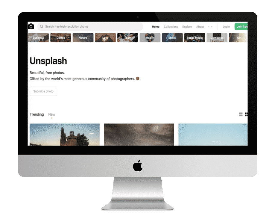 Unsplash - photos gratuites