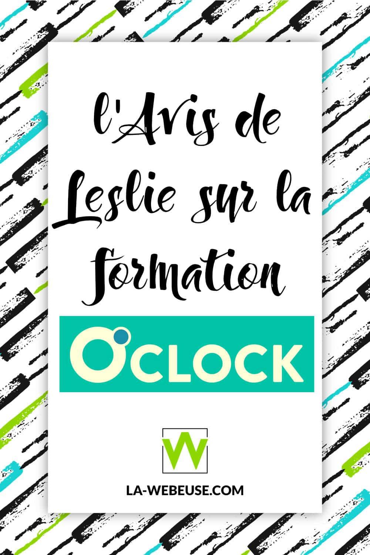 L'avis de Leslie sur la Formation O'Clock