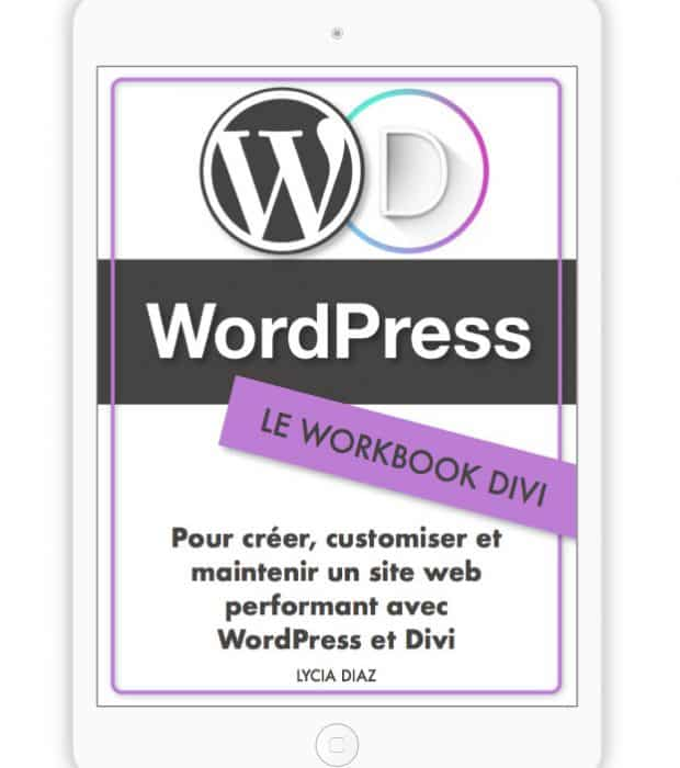 Ebook WordPress avec Divi - le WorkBook