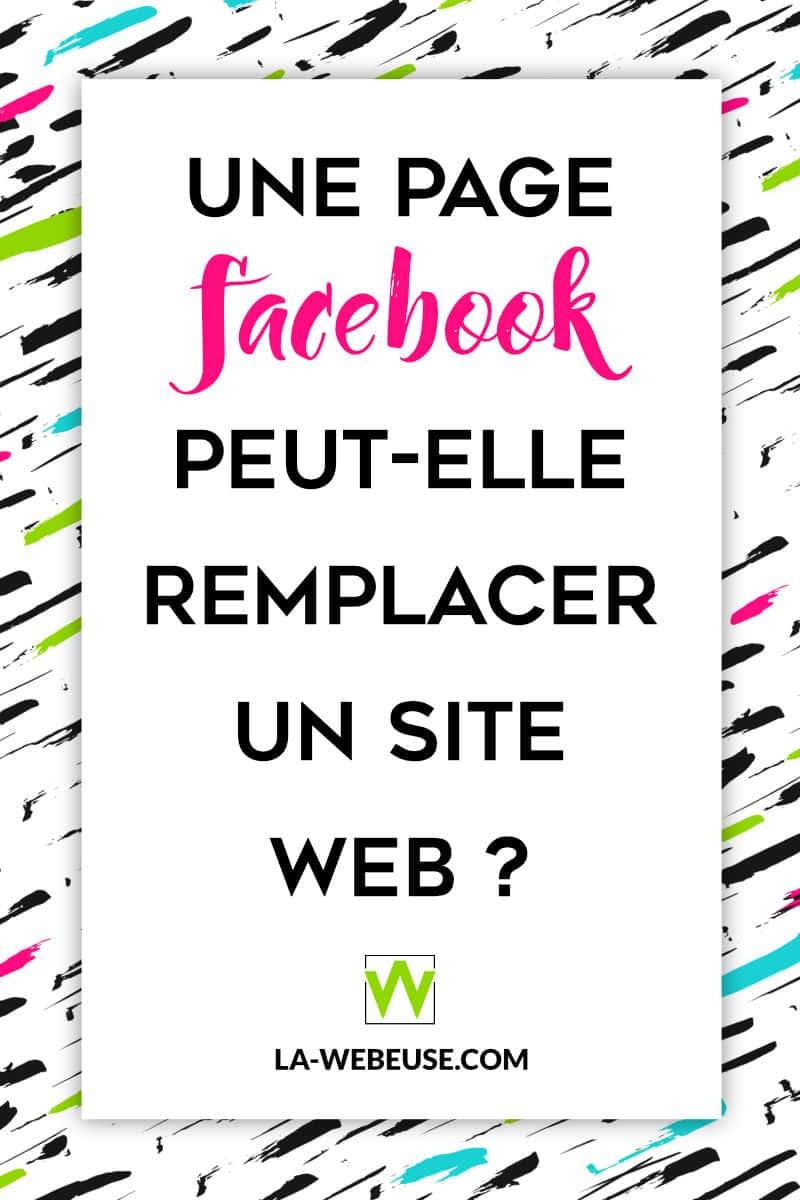 Une page Facebook à la place d'un site web