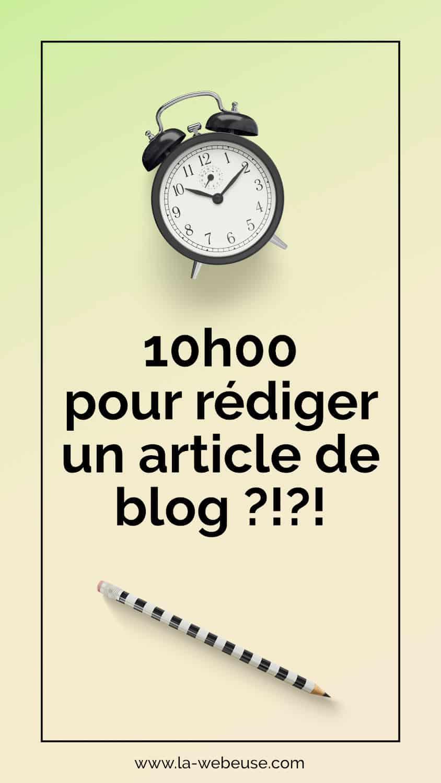 10h pour rédiger un article de blog
