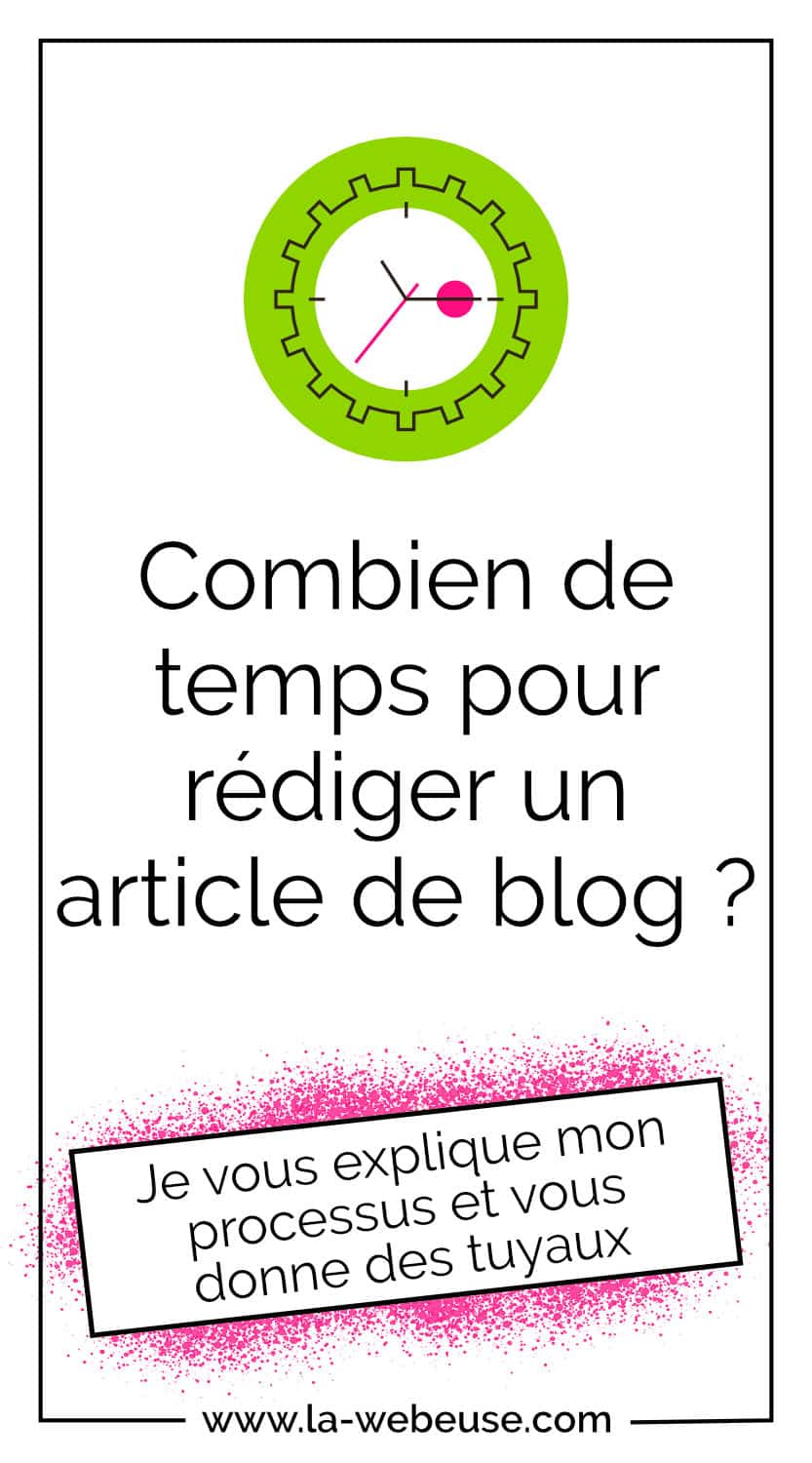 Temps de rédaction d'un article