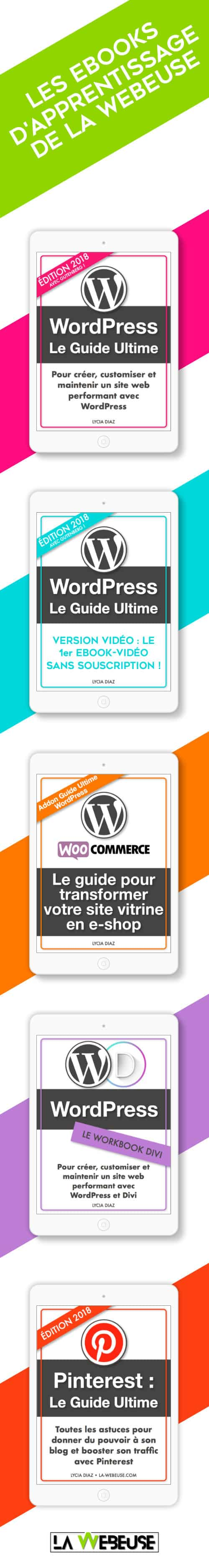 ebooks d'apprentissage de La Webeuse