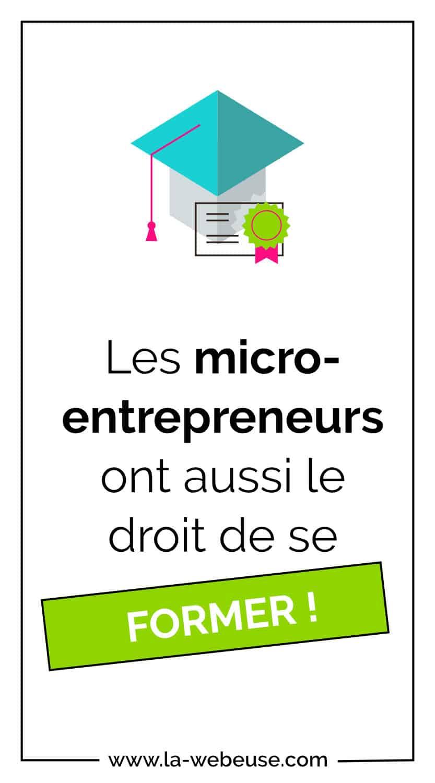 les micro-entrepreneurs ont droit à la formation