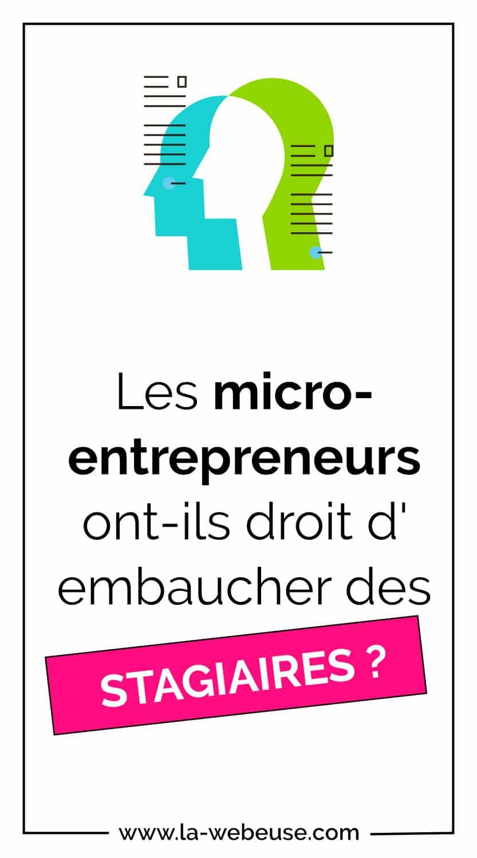 stagiaire en micro-entreprise