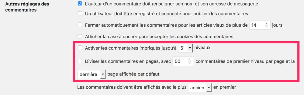 commentaires WordPress