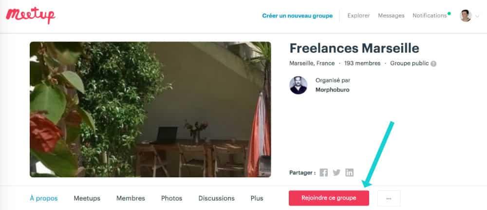 rejoindre un Meetup