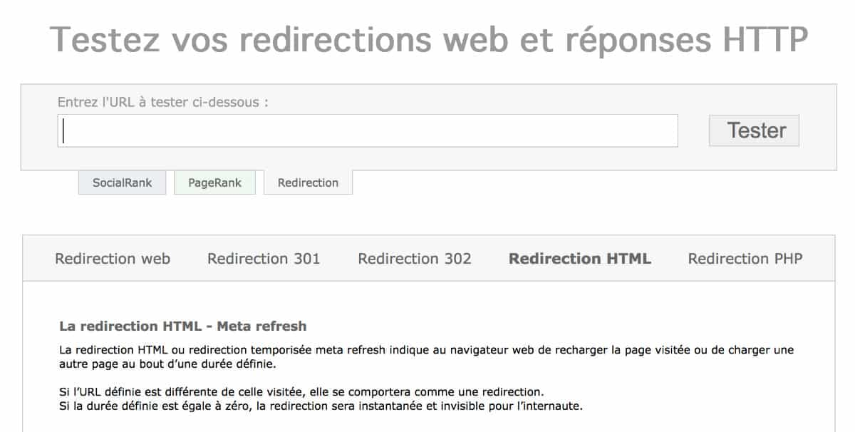 Outils pour tester les redirections