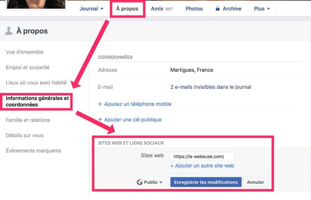 backlink profil facebook