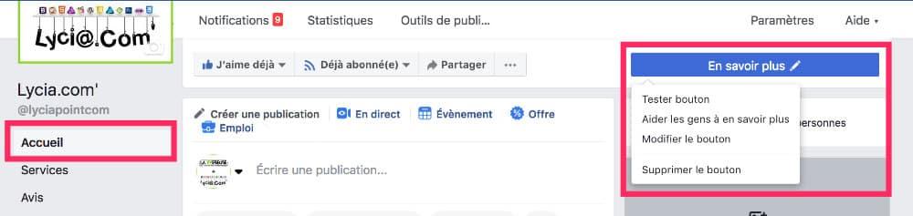 CTA Facebook