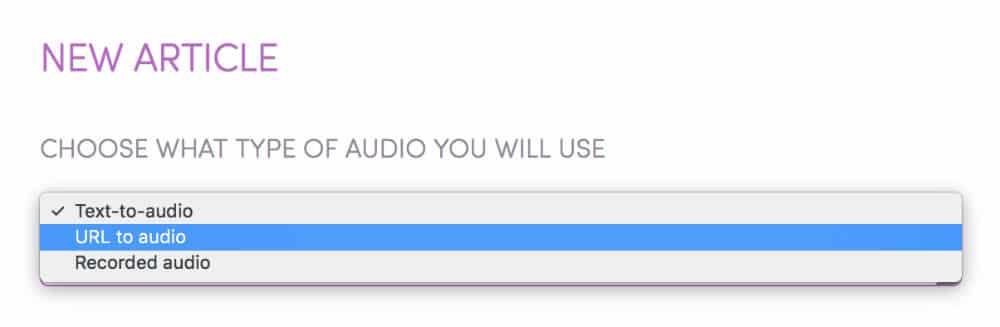 Générer un article audio dans SpeechKit