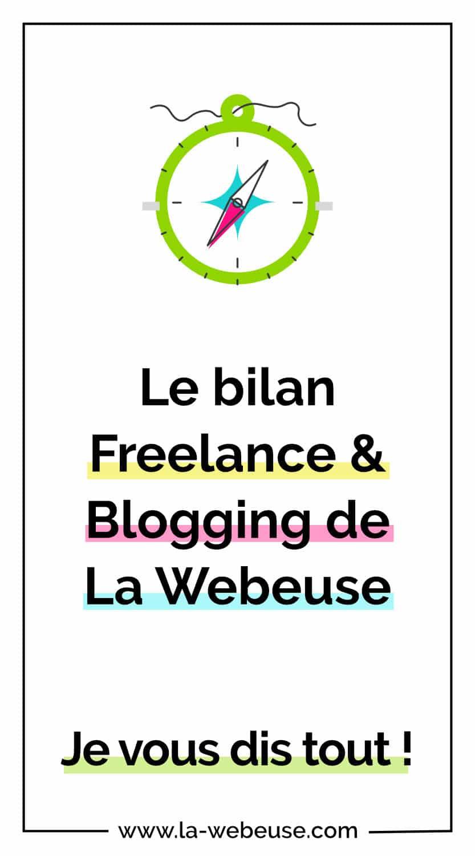 Bilan freelance et blogging de La Webeuse