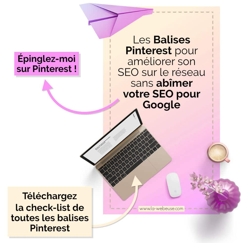 Épingle pour article seulement : attribut SEO Pinterest