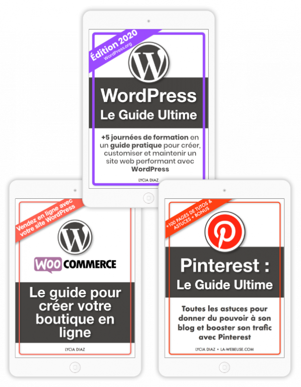 ebooks méga pack : WordPress + WooCommerce + Pinterest