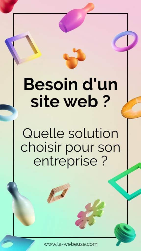 Les solutions pour créer son site web