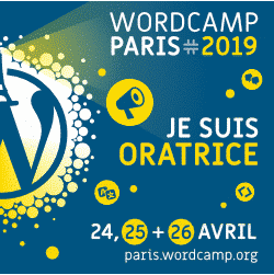 Oratrice au WordCamp Paris 2019