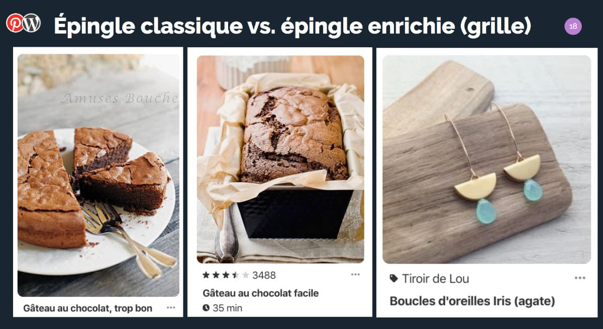 Épingle classique vs. épingle enrichie