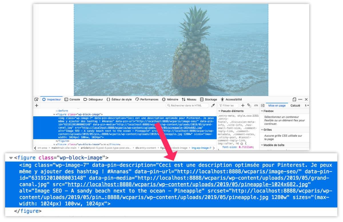 Voir le code HTML