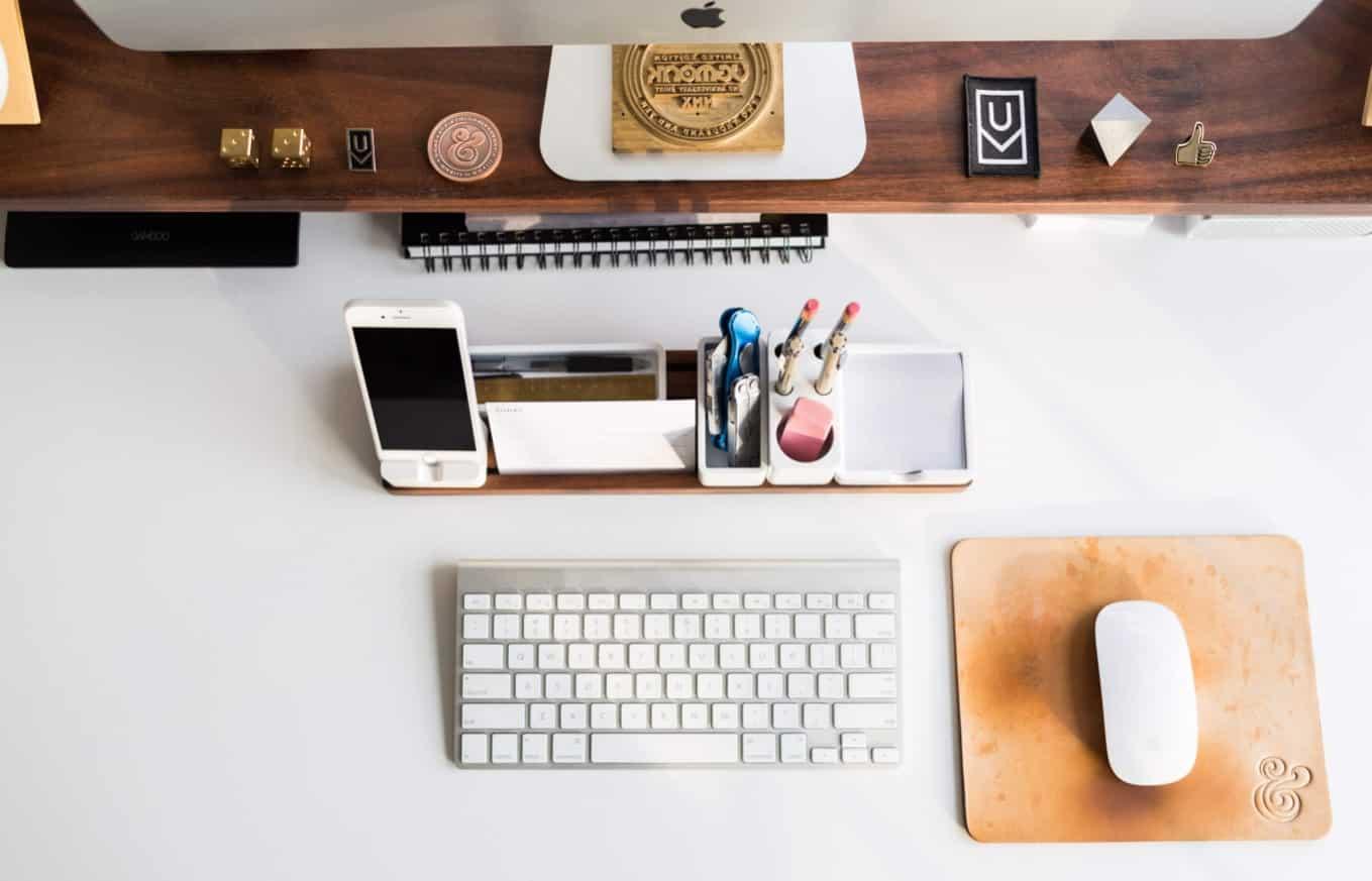 Espace de travail organisé