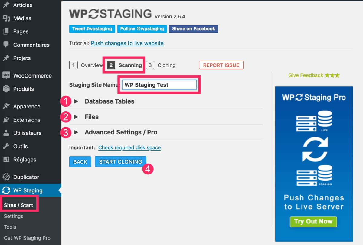 Clone WP Staging