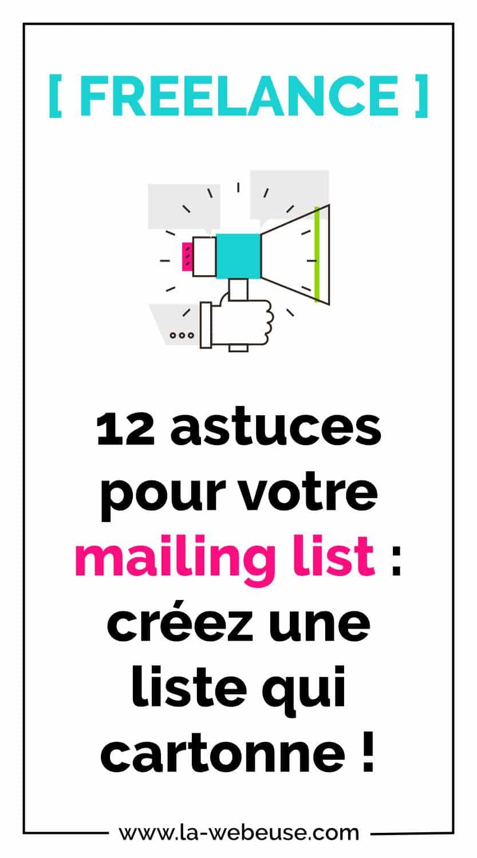 12 astuces mailing list