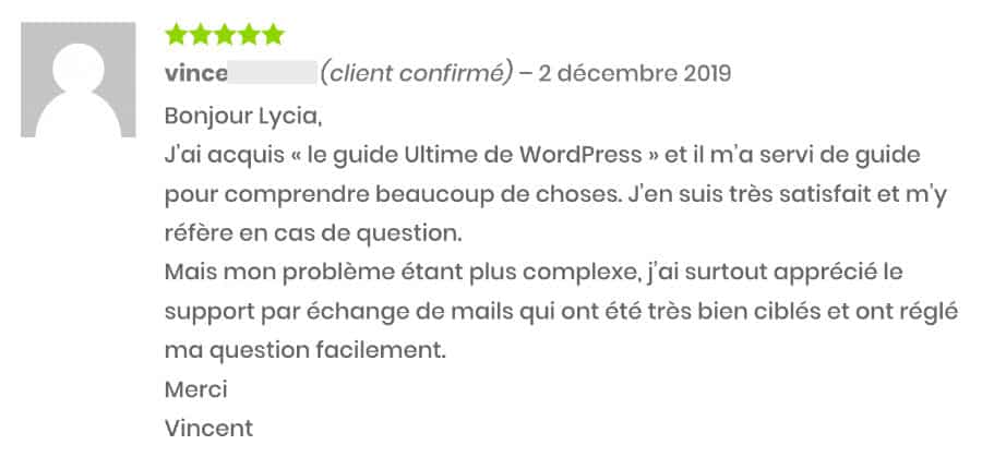 avis de vincent sur WordPress le guide ultime