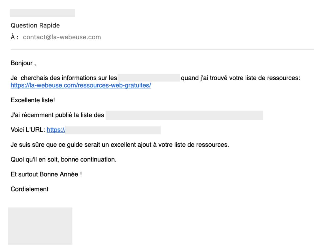 demande d'insertion de backlinks gratuits