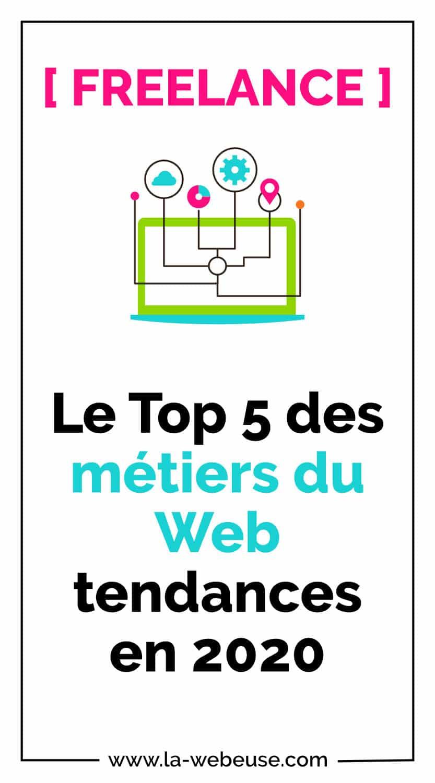 Top 5 métiers du Web 2020
