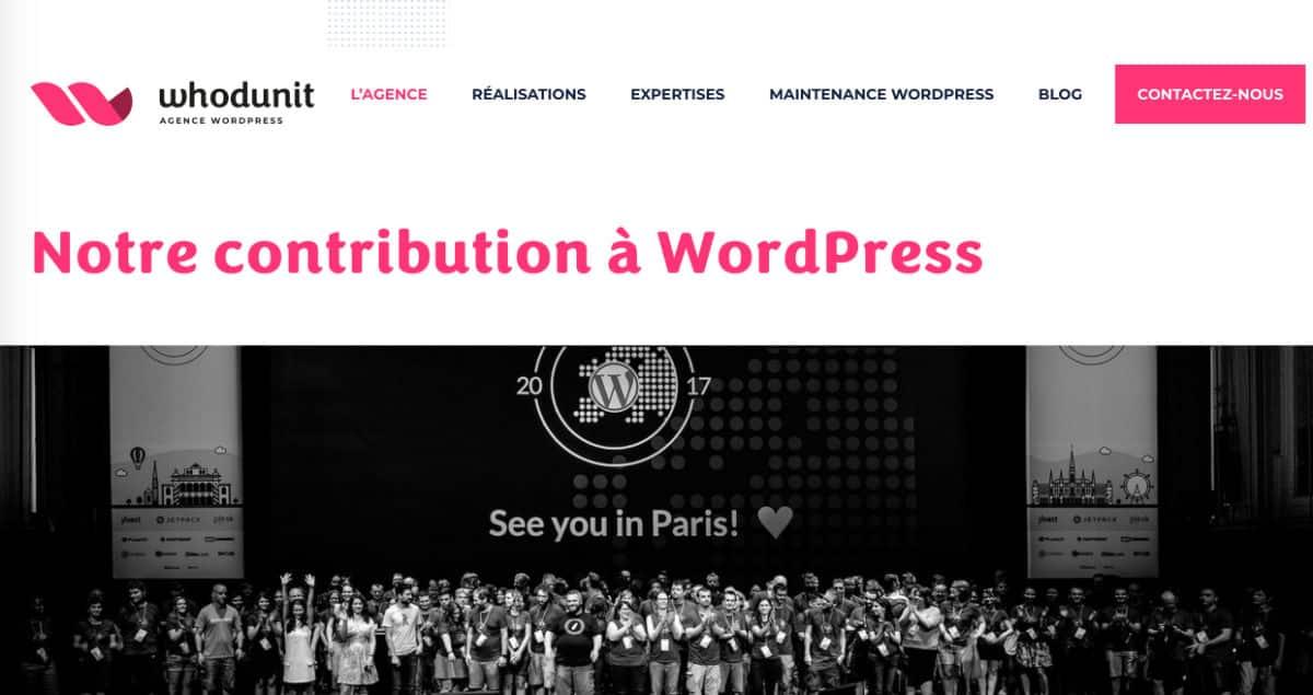Whodunit crée des sites WordPress de qualité