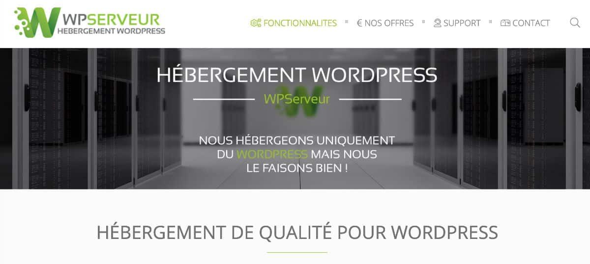 Hébergement WordPress WPServeur