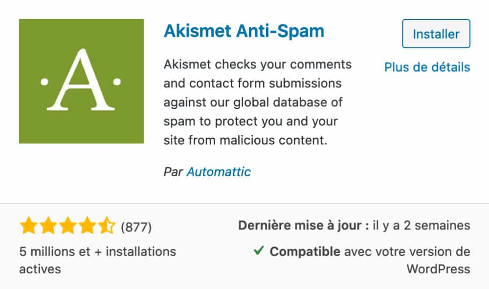 Akismet Anti Spam