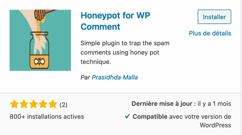 Honeypot for WP Comment