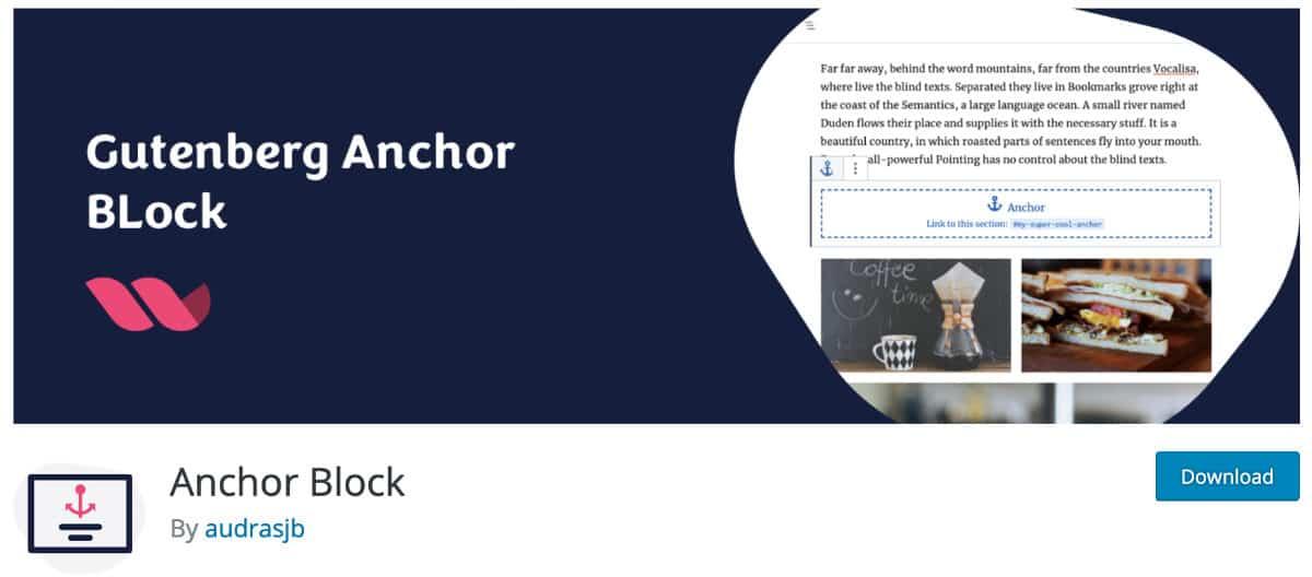 Gutenberg Anchor Block